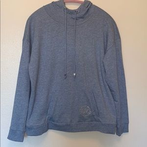 Michael Kors heathered blue hoodie